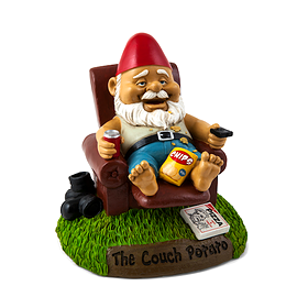 gnome de jardin , couch potatoe