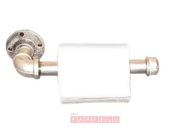 Porte-rouleau papier de toilette en métal