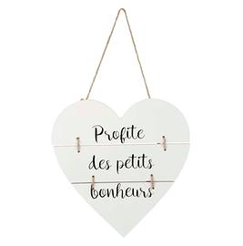 Affiche en bois, Profite Des Petits Bonheurs