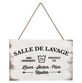Enseigne en bois, Salle De Lavage