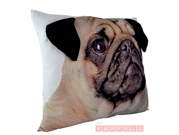Coussin chien Pug