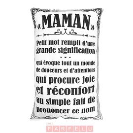 Coussin Maman Petit Mot...