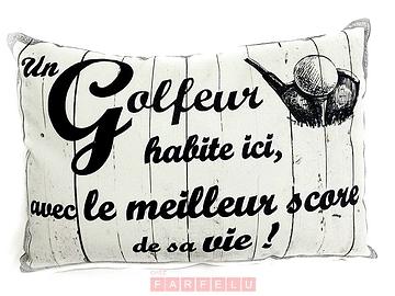 Coussin Le golfeur