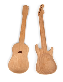 Cuillères à salade guitare