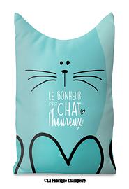 Butoir de porte, Le bonheur chat turquoise