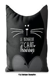 Butoir de porte, le bonheur chat noir