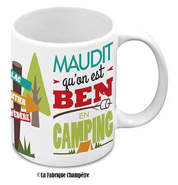 Tasse, Maudit qu'on est ben en camping