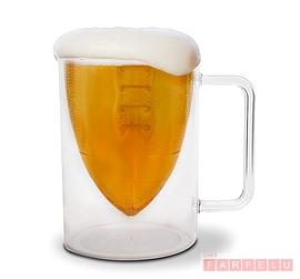 Mug à bière ballon de football Bottom's Up