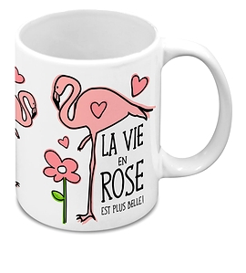 Tasse, Flamant, La vie en rose