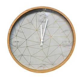Horloge en bois motif géométrique