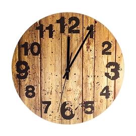 Horloge lattes de bois