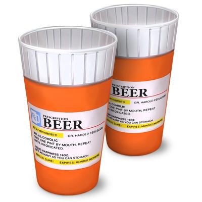 Verres à bière Prescription