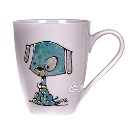 Collection Anou Tasse chien bleu