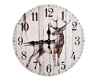 Horloge, silhouette de cerf