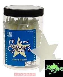 Ensemble d'étoiles fluorescentes
