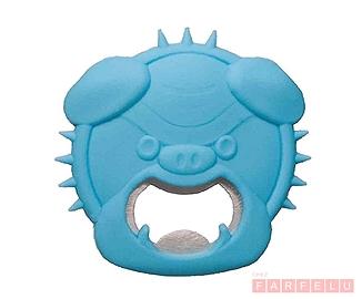 Ouvre bouteille magnétique Bulldog bleu