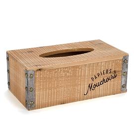 Boîte de papier mouchoir naturel