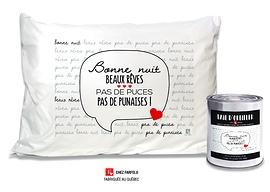 Taie Pas de puces Collection exclusive