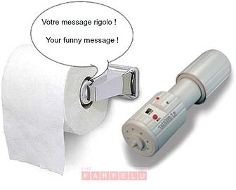 Porte papier de toilette parlant