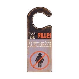 Affiche de porte filles non autorisées