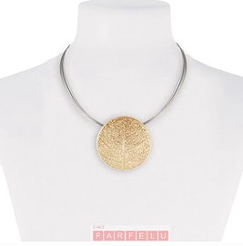 Bijou caracol collier or
