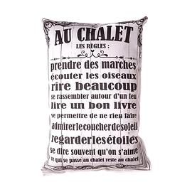 Coussin texte Chalet....
