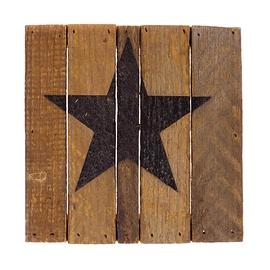 Affiche en bois étoile noire