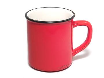 Tasse émaillée rouge