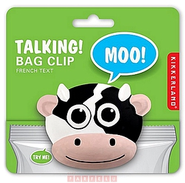 Pince à sachet parlant, vache