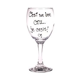 Collection Anou coupe à vin C'est un bon cru...