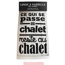 Linge à vaisselle Ce Qui Se Passe Au Chalet...