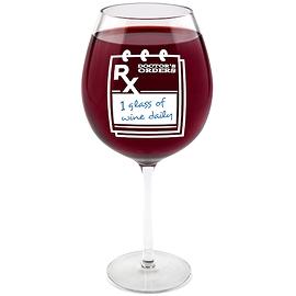 Verre à vin géant Prescription '' Anglais ''
