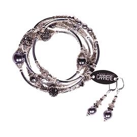 Bracelet Marie-France Carrière, gris