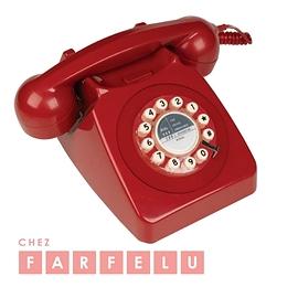 Téléphone 746 rétro rouge