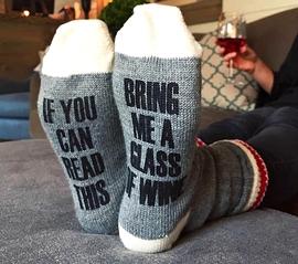 Bas de laine, Glass of wine , large