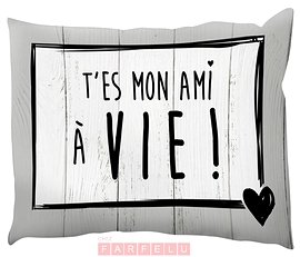 Coussin T'es Mon Ami À Vie...