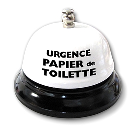 Cloche de table, urgence papier de toilette