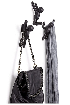 Crochets Umbra Buddy hooks noirs..