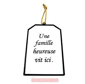 Affiche en verre Une Famille