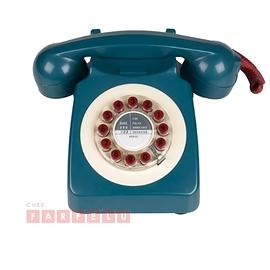 Téléphone 746 rétro bleu