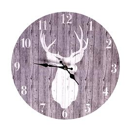 Horloge cerf gris