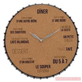 Horloge avec fond de liège