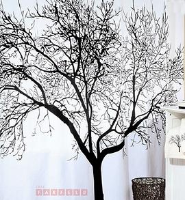 Rideau de douche arbre noir