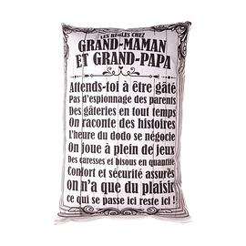 Coussin texte Grand-maman et grand-papa