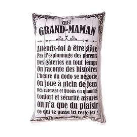 Coussin Chez Grand-Maman Attends-Toi...