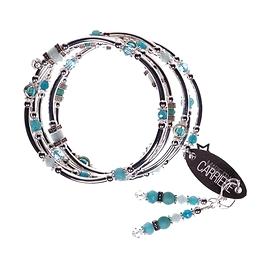 Bracelet Marie-France Carrière turquoise petites billes