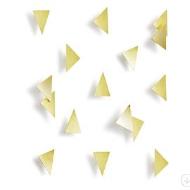 Triangles murals en brass poli Umbra