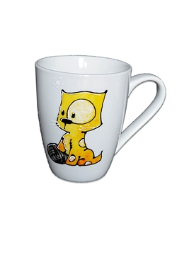 Collection Anou tasse Chat jaune