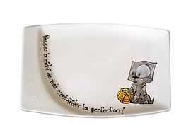 Collection Anou assiette Chat gris