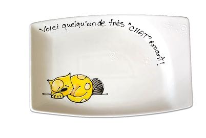 Collection Anou assiette Chat jaune